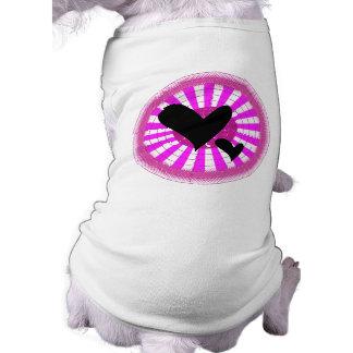 Los amores apuntan para la camiseta ligera gótica camisetas de perro
