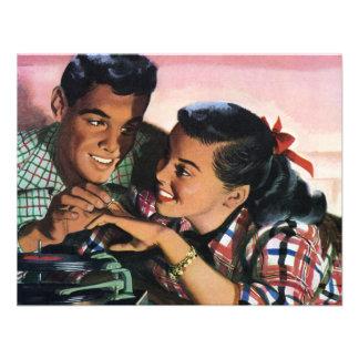 Los amores de High School secundaria del vintage,  Invitacion Personal