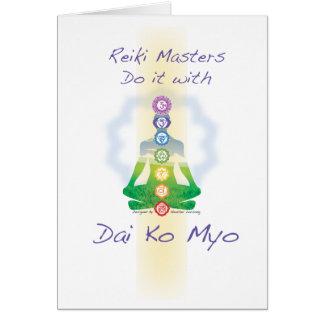 Los amos de Reiki lo hacen con Dai Ko Myo Tarjeton