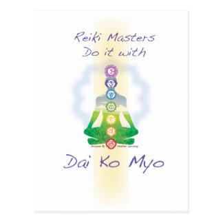 Los amos de Reiki lo hacen con Dai Ko Myo Tarjeta Postal