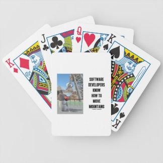 Los analistas de programas informáticos saben baraja de cartas