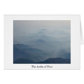 Los Andes de la tarjeta de felicitación de Perú
