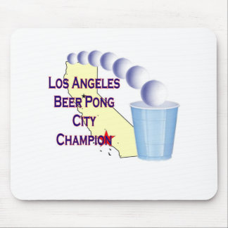 Los Angees Beer Pong City Champion Mouse Pad
