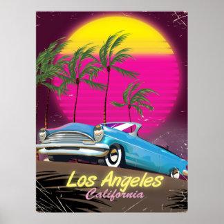Los Angeles 1980s Retro Travel print