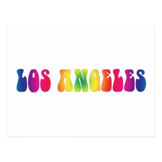 Los Angeles 60's Tie Dye Blank Art Postcard