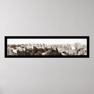Los Ángeles 6to y foto 1911 de la colina Póster