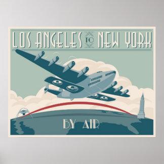 Los Ángeles a Nueva York por el aire Poster