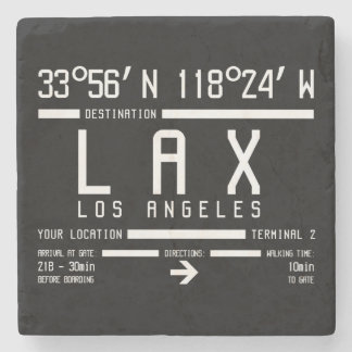 Los Angeles Airport Code Stone Beverage Coaster