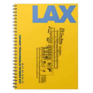 Los Angeles Airport (LAX) Diagram Notebook
