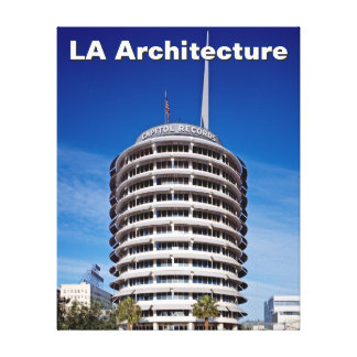 Los Angeles Architecture Capitol Records Hollywood Canvas Print