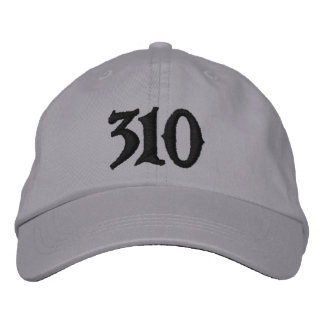 Los Angeles Area Code 310 or use ur own area code Embroidered Hat