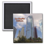 Los Angeles As Seen From Grand Central Market 2 Inch Square Magnet