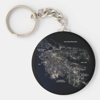 Los Angeles at Night Keychain