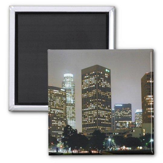 Los Angeles At Night Magnet