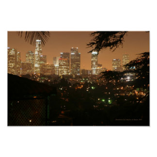 Los Angeles at Night Print