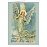 Los ángeles bajaron en el navidad tarjeton