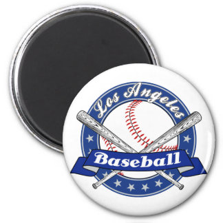 Los Angeles Baseball 2 Inch Round Magnet