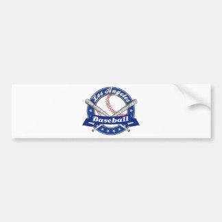 Los Angeles Baseball Car Bumper Sticker