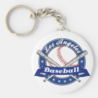 Los Angeles Baseball Basic Round Button Keychain