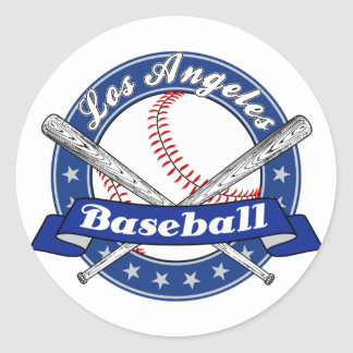 Los Angeles Baseball Classic Round Sticker