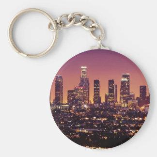 LOS ANGELES BASIC ROUND BUTTON KEYCHAIN