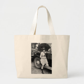 Los Angeles Bather, early 1900s Large Tote Bag