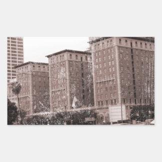 Los Angeles Biltmore Hotel Rectangular Stickers