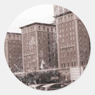 Los Angeles Biltmore Hotel Round Stickers