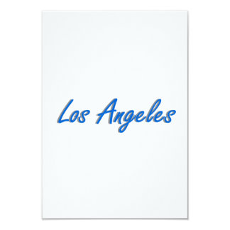 "Los Angeles Blue and Gray 3.5"" X 5"" Invitation Card"