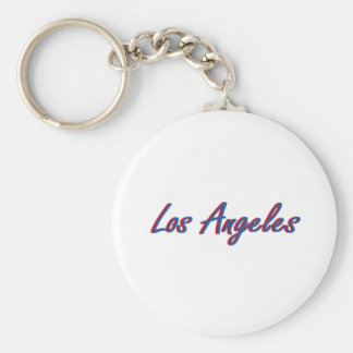 Los Angeles Blue and Red Keychains