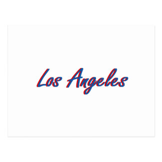 Los Angeles Blue and Red Postcard