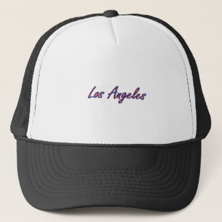 Los Angeles Blue and Red Trucker Hat