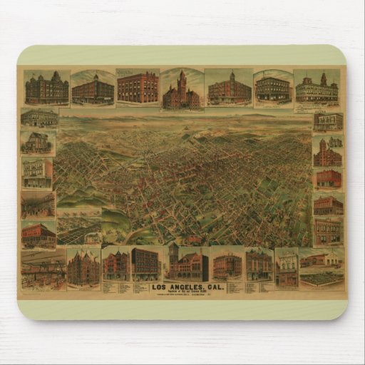 Los Angeles CA 1891 Mouse Pad