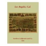 Los Ángeles CA 1891 Postal
