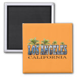 Los Angeles CA 2 Inch Square Magnet