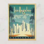 """Los Angeles, CA 2 Postcard<br><div class=""""desc"""">Anderson Design Group is an award-winning illustration and design firm in Nashville,  Tennessee. Founder Joel Anderson directs a team of talented artists to create original poster art that looks like classic vintage advertising prints from the 1920s to the 1960s.</div>"""