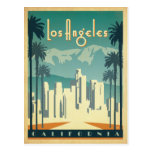 Los Angeles, CA 2 Postcard<br><div class='desc'>Anderson Design Group is an award-winning illustration and design firm in Nashville,  Tennessee. Founder Joel Anderson directs a team of talented artists to create original poster art that looks like classic vintage advertising prints from the 1920s to the 1960s.</div>