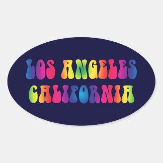 Los Angeles CA 60s TieDye Stickers