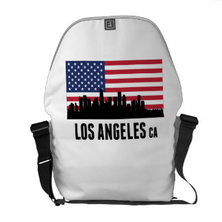 Los Angeles CA American Flag Courier Bag