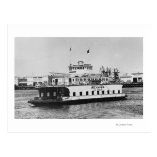 Los Angeles, CA Ferry Islander near Harbor Post Card