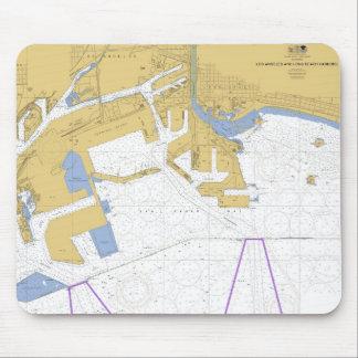 Los Angeles CA Nautical Harbor Chart Mouse Pad