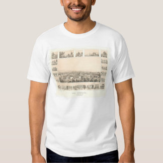 Los Angeles, CA. Panoramic Map 1857 (0903A) Shirt