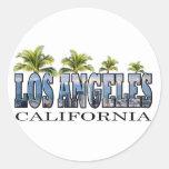 Los Ángeles CA Pegatina Redonda
