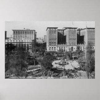 Los Angeles, CA Perishing Square and Biltmore Poster