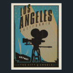 "Los Angeles, CA Postcard<br><div class=""desc"">Anderson Design Group is an award-winning illustration and design firm in Nashville,  Tennessee. Founder Joel Anderson directs a team of talented artists to create original poster art that looks like classic vintage advertising prints from the 1920s to the 1960s.</div>"