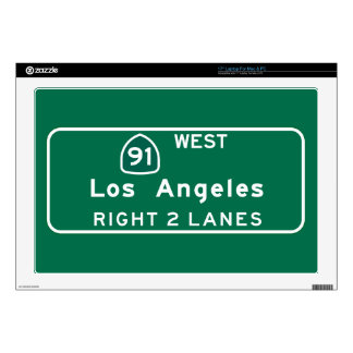 Los Angeles, CA Road Sign Skins For Laptops