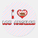 Los Angeles, CA Round Sticker
