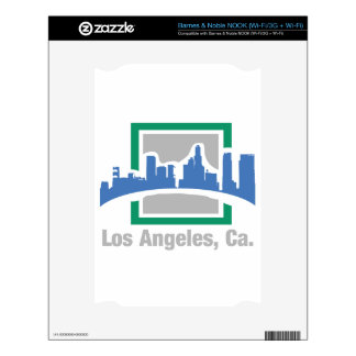 Los Angeles, ca. skyline Decals For NOOK