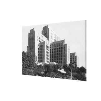 Los Angeles CA View of General Hospital Gallery Wrapped Canvas