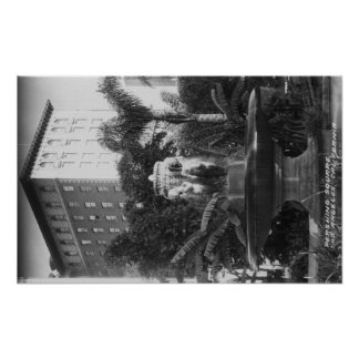 Los Angeles, CA View of Perishing Square Poster